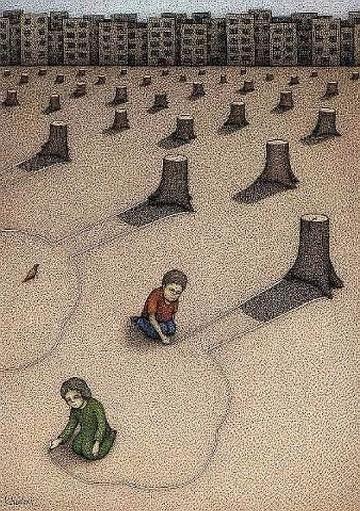 dibujos de la deforestacion animados