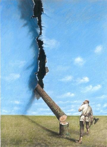 dibujos de la deforestacion contaminacion