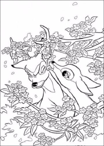 dibujos de primavera para imprimir infantiles