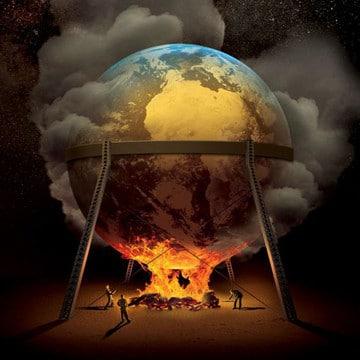 dibujos del planeta tierra contaminado y limpio