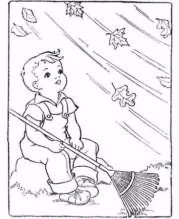 dibujos para colorear de otoño hojas