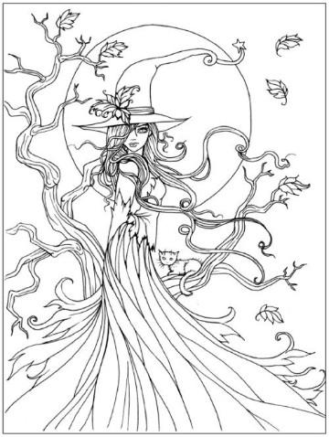 dibujos para colorear de otoño infantiles