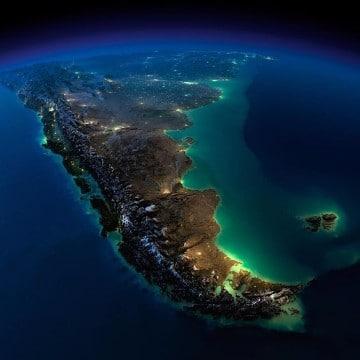 fotos del mundo desde el espacio de noche