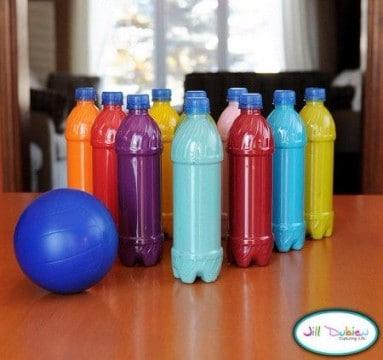 material reciclado para educacion fisica juguetes