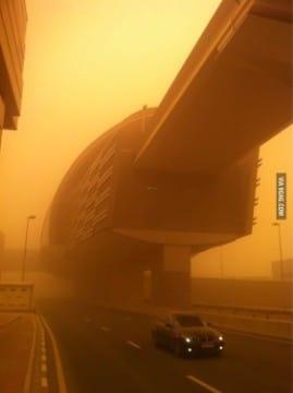 tormentas de arena en dubai hoy