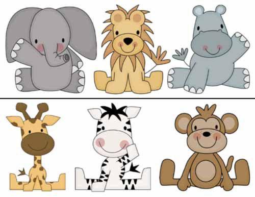 animales de la selva animados bebes