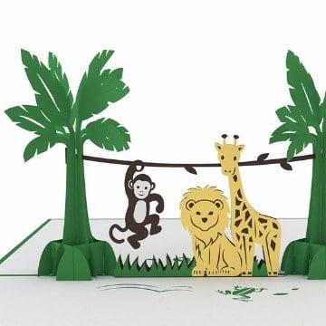 animales de la selva animados imagenes