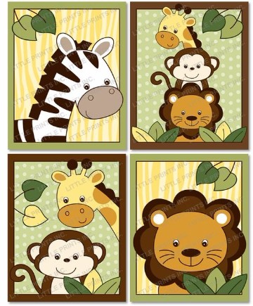 animales de la selva animados para imprimir