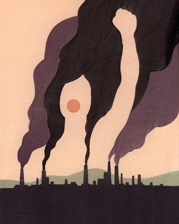 carteles de la contaminacion del aire