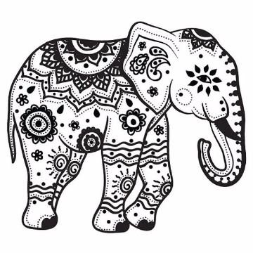 dibujos de elefantes para niños a lapiz
