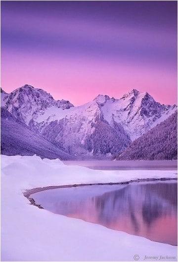 fotos de montañas nevadas heladas