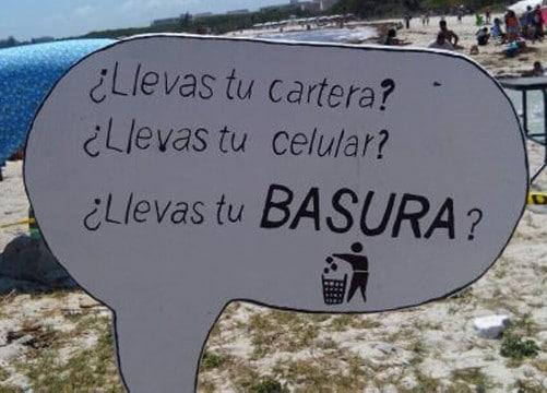 Mensajes y frases para no tirar basura en ning n lugar for Piso estudiantes la laguna
