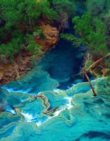 imagenes de cascadas de agua azul mundo