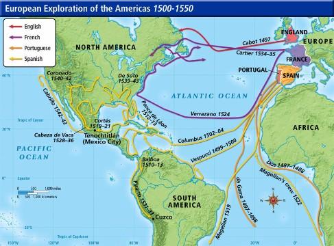 imagenes de descubrimiento de america mapa
