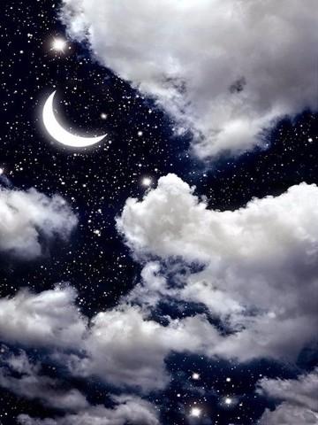 imagenes de la luna y las estrellas animadas