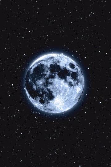 imagenes de la luna y las estrellas juntos