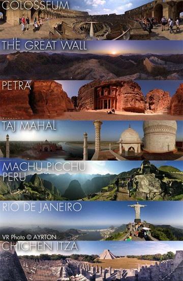 imagenes de las 7 maravillas del mundo actuales