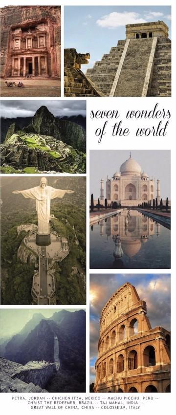 imagenes de las 7 maravillas del mundo moderno