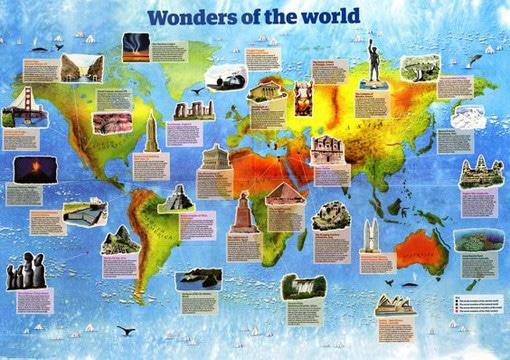 imagenes de las 7 maravillas del mundo y sus nombres