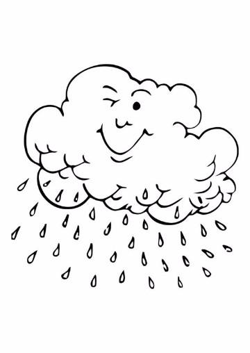 imagenes de nubes para colorear infantiles