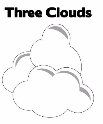 imagenes de nubes para colorear para colorear