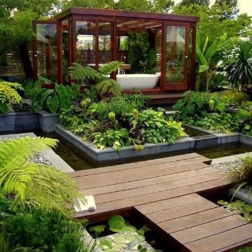 jardines pequeños modernos interiores