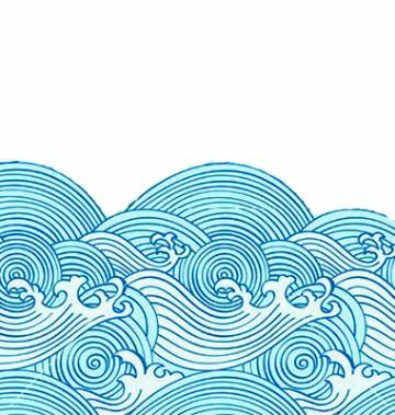 dibujos de olas del mar a lapiz