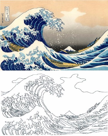 dibujos de olas del mar para colorear