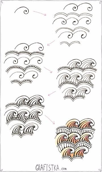 dibujos de olas del mar para imprimir