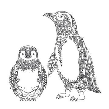 Dibujos de pinguinos para colorear animados para niños | Imagenes ...