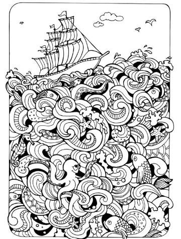 imagenes de barcos para colorear faciles