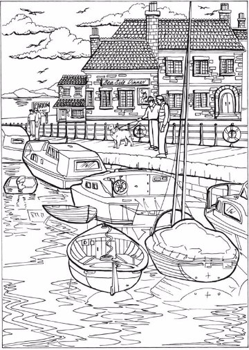 street scene coloring pages - photo#28