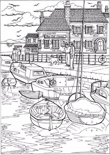 imagenes de barcos para colorear imprimir