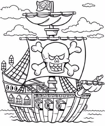 Imagenes de barcos piratas para dibujar e imprimir  Imagenes del