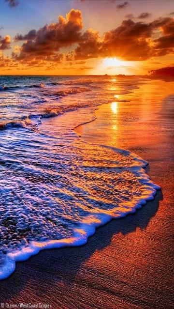 imagenes de puestas de sol en la playa