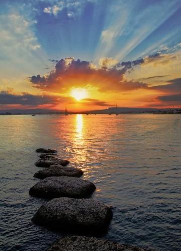 imagenes de puestas de sol romanticas