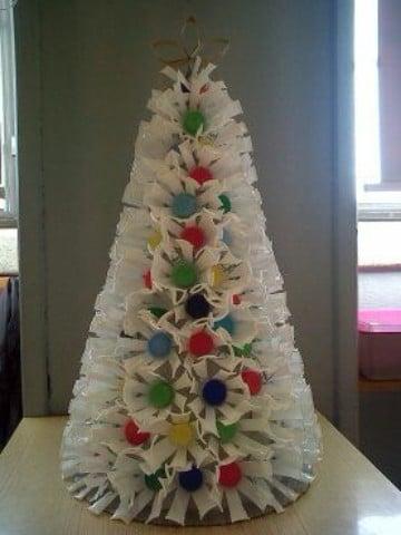 que hacer con material reciclado para navidad