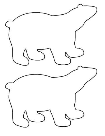 dibujos de osos polares faciles