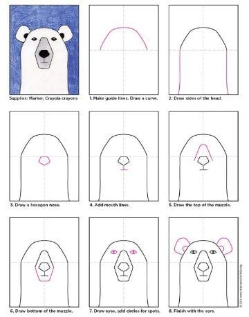 dibujos de osos polares para niños