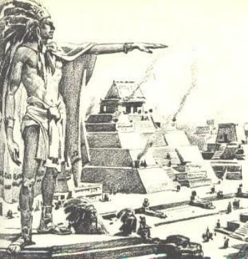 dibujos de piramides mayas aztecas