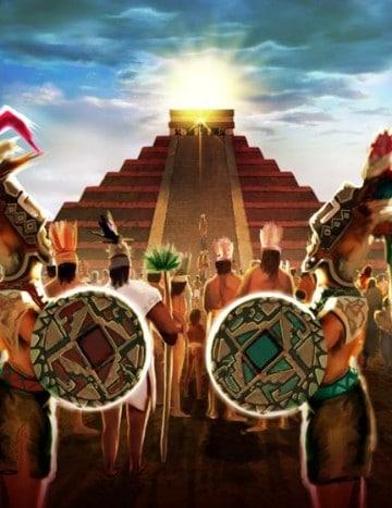 dibujos de piramides mayas imagenes