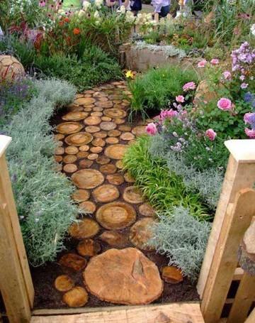 imagenes de jardines rusticos patios
