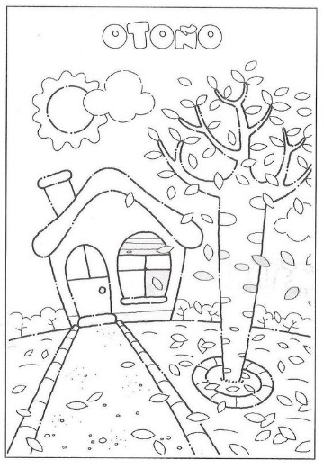 Imagenes de otoño para colorear para niño de preescolar   Imagenes ...