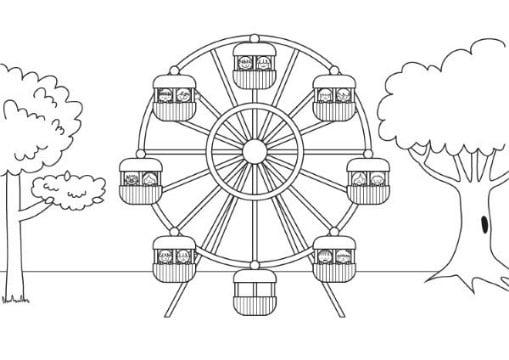 imagenes de parques para colorear faciles