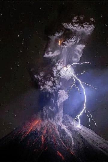 imagenes de volcanes en erupcion para dibujar