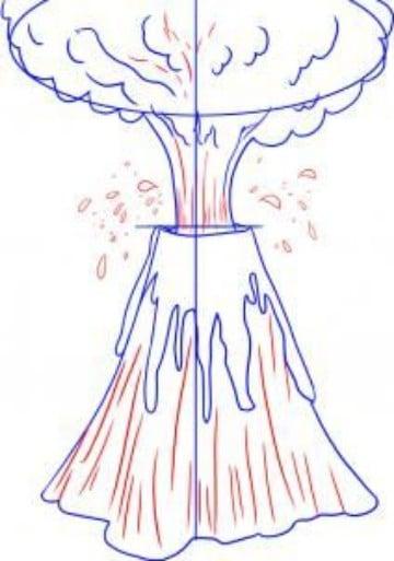 imagenes de volcanes para dibujar sus partes