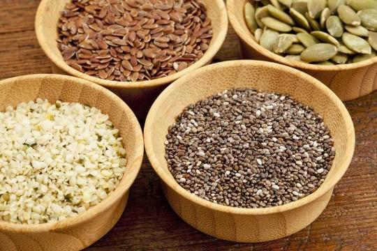 tipos de semillas comestibles secas