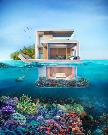 casas debajo del mar mexico