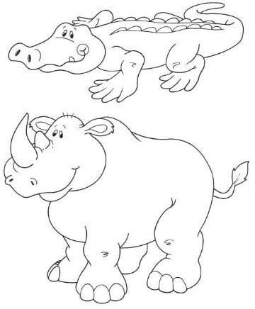 dibujos de animales de la selva para colorear