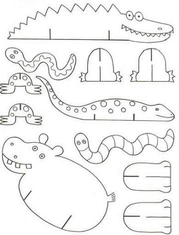 dibujos de animales de la selva para imprimir
